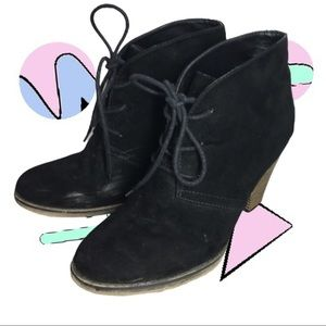 MIA Ankle Booties Boots Stacked Heel Date Night